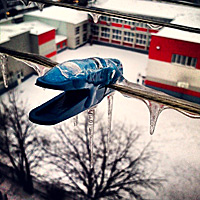 Zaleđena štipaljkica #icicle
